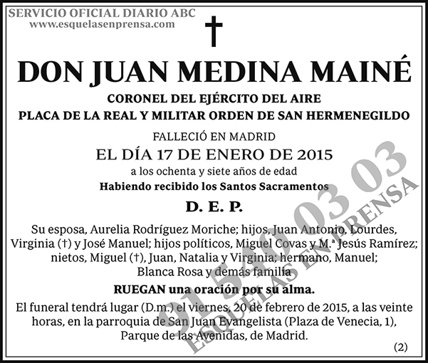 Juan Medina Mainé